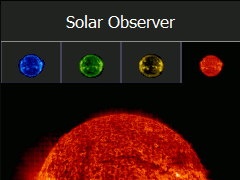 Solarobserver Screenshot with orange sun
